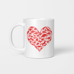 Boys Valentines Day Shirt - Dinosaur Heart Kids Dino Gift Mug