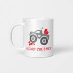Heart Crusher Boy Valentines Day Truck Tee Mug