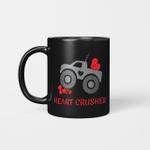 Heart Crusher Boy Valentines Day Truck Mug
