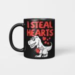 Kids I Steal Hearts Trex Dino Cute Baby Boy Valentines Day Gift Mug