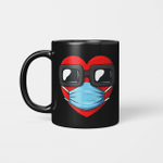 Heart In A Mask Funny Valentines Day Gift Mug