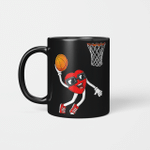 Valentines Day Heart Dunking Basketball Boys Girls Kids Gift Mug