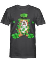 Dabbing English Bulldog St Patrick's Day T-Shirt