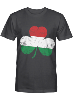 Funny St. Patrick's Day Irish Hungarian Shamrock Flag Gifts T-Shirt