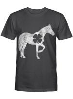 Horse Irish Shamrock St. Patrick's Day Saint Paddy's Girl T-Shirt