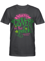 Kids Cutest Clover In The Patch St Patrick's Day Gift Irish Girl T-Shirt