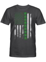 St Patrick's Day IRISH AMERICAN FLAG T-SHIRT
