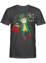 St Patrick's Day Leprechaun In A Mask 2021 Boys Girls Kids T-Shirt