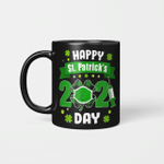 Happy Saint Patrick's Day 2021 Irish Shamrock Face Mask Gift Mug