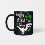 Happy St. Pat Trex Day T-Shirt Dinosaur St. Patrick's Day Gift Mug