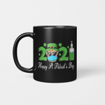 Leprechaun In A Mask Happy St Patrick's Day 2021 Gift Mug