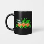 Three Gnomes Holding Clover Happy St Patrick's Day Shamrock Gift Mug