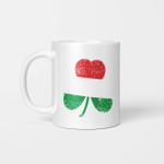 Funny St. Patrick's Day Irish Hungarian Shamrock Flag Gifts Mug