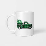 Green Buffalo Plaid Shamrock Pickup Truck St. Patrick's Day Gift Mug
