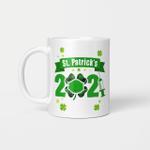 Happy Saint Patrick's Day 2021 Irish Shamrock Face Mask Gift Mug