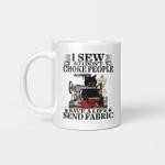 Black Cat I Sew So I Don't Choke People Save A Life Send Fabric Gifts Mug