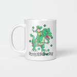 Dino St Patricks Day Shirt Kids Toddler Boys Leprechaun Gifts Mug