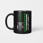 St Patrick's Day IRISH AMERICAN FLAG Gift Mug