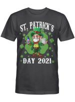 Leprechaun Wearing Mask - Funny Saint Patrick's Day 2021 Shirt