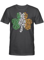 St Patricks Day shamrock Gaming Video Gamer kids boys men Shirt