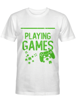 P Is For Playing Games Funny St Patrick's Gamer Boy Men Gift T-Shirt