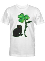 St Patricks Day Black Cat Shirt My Lucky Charm Women's Men Gifts Shirt