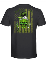 St. Patrick's Day Skull Drink Up Bitches American Flag Shirt