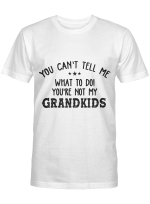 You Can't Tell Me What To Do You_re Not My Grandkids Funny T-Shirt