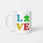 Love Autism Autism Awareness Gifts Mug