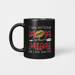 I Have Two Titles Mom And Mimi And I Rock Them Both Leopard Lips Graphic Mug Lipstick Kiss  Mother's Day Gifts Mug