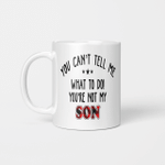 You Can't Tell Me what To Do You're Not My Son Mug, Father's Day Gift, Gift For Father, Red Plaid Family Mug