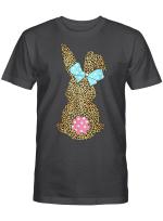 Happy Easter Cute Leopard Bunny Rabbit T-Shirt