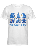 Three Gnomes Holding Blue Puzzle Autism Awareness Shirt