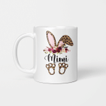 Mimi Bunny Floral Leopard Plaid Mimi Happy Easter Mother's Day Mug