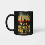 Middle Earth's Annual Mordor Fun Run One Does Not Simply Walk Vintage Mug