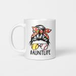 Aunt Life Softball Baseball Mothers Day Graphic Mug Mother's Day 2021 Gifts Mug