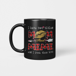I Have Two Titles Mom And Meme And I Rock Them Both Leopard Lips Lipstick Kiss  Mother's Day Gifts Mug