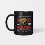 I Have Two Titles Mom And Nana And I Rock Them Both Leopard Lips Lipstick Kiss  Mother's Day Gifts Mug