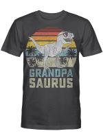 Grandpasaurus T-Rex Dinosaur Grandpa Saurus Family Matching Vintage Shirt
