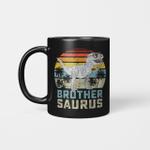 Brothersaurus T-Rex Dinosaur Brother Saurus Family Matching Vintage Mug