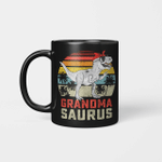 Grandmasaurus T-Rex Dinosaur Grandma Saurus Family Matching Vintage Mug