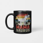 Mamasaurus T-Rex Dinosaur Mama Saurus Family Matching Vintage Mug