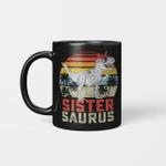 Sistersaurus T-Rex Dinosaur Sister Saurus Family Matching Vintage Mug