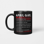 April Girl Facts Is Most Known For Human Lie Detector And The Realist Mug Happy Birthday April Gifts Mug
