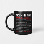 December Girl Facts Is Most Known For Human Lie Detector And The Realist Mug Happy Birthday December Gifts Mug