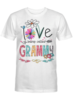 I Love Being Called Grammy Daisy Flower Shirt Funny Mother's Day Gifts