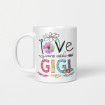 I Love Being Called Gigi Daisy Flower Mug Funny Mother's Day Gifts