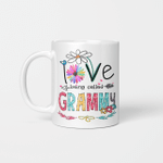 I Love Being Called Grammy Daisy Flower Mug Funny Mother's Day Gifts