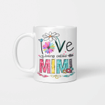 I Love Being Called Mimi Daisy Flower Mug Funny Mother's Day Gifts
