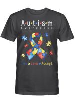 Live Love Accept Autism Awareness Month Shirt